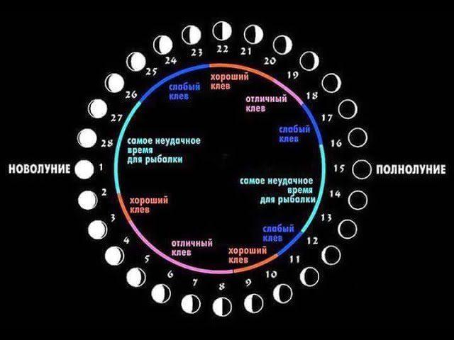 Лунный календарь рыбака на 2020 года